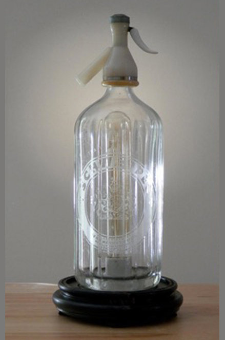 Vintage Seltzer Bottle Lamp