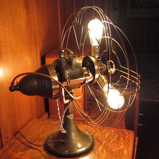 1930's Fan Lamp