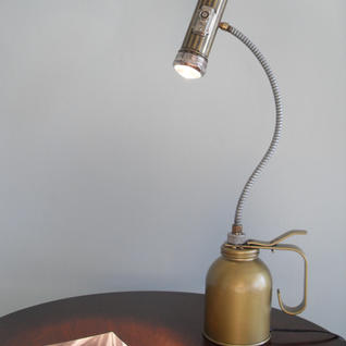 Iconic Flashlight Oil Can Lamp