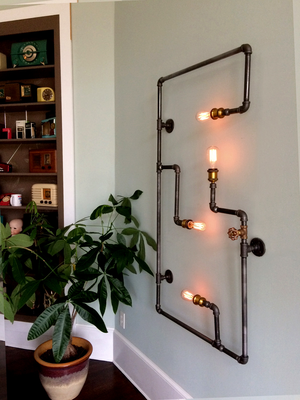 Pipe Sconce 4
