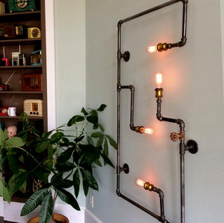 Steam Pipe Wall Lamp