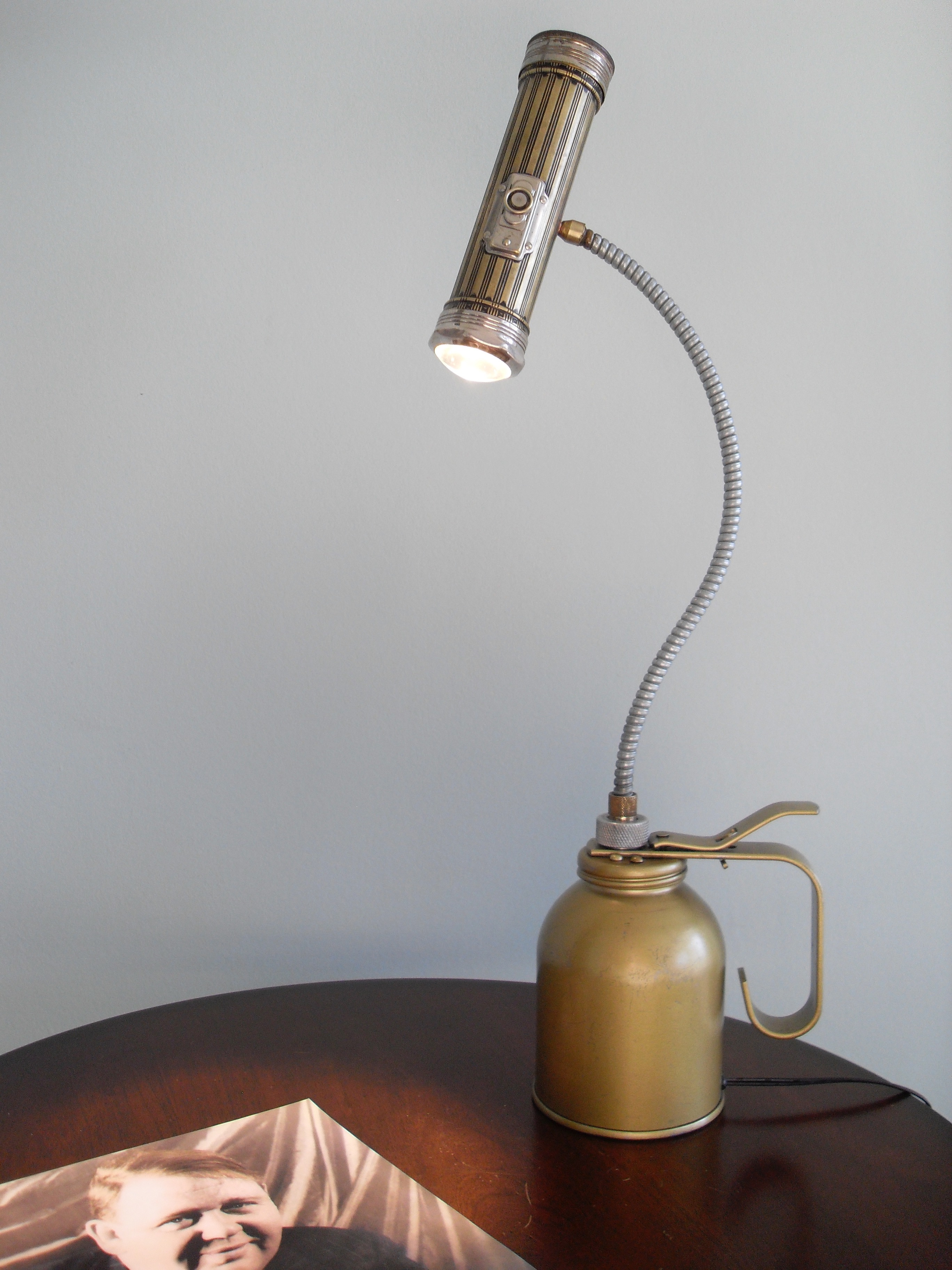Vintage Flashlight-Oilcan Light