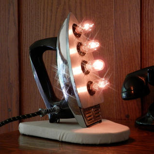 Vintage Flat Iron Table Lamp