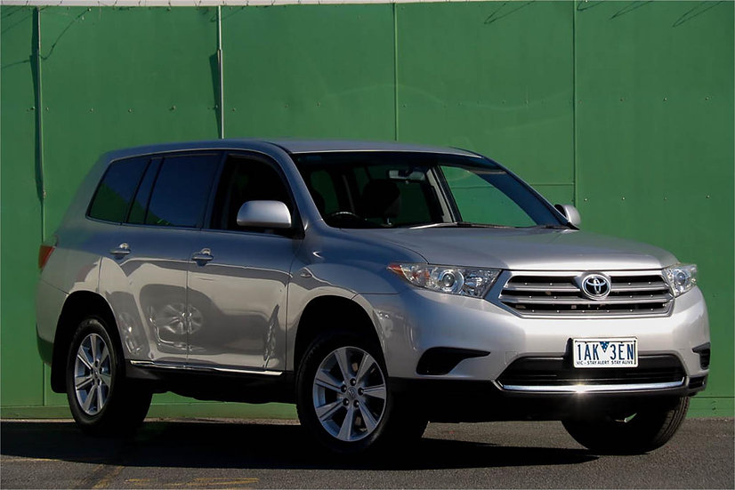 Toyota Kluger 2013 GSU40R KX-R Wagon 7st 5dr Spts Auto 5sp 2WD 3.5i