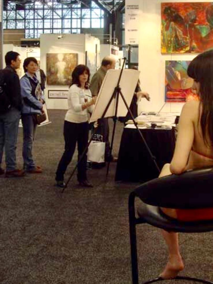 Artist drawing model