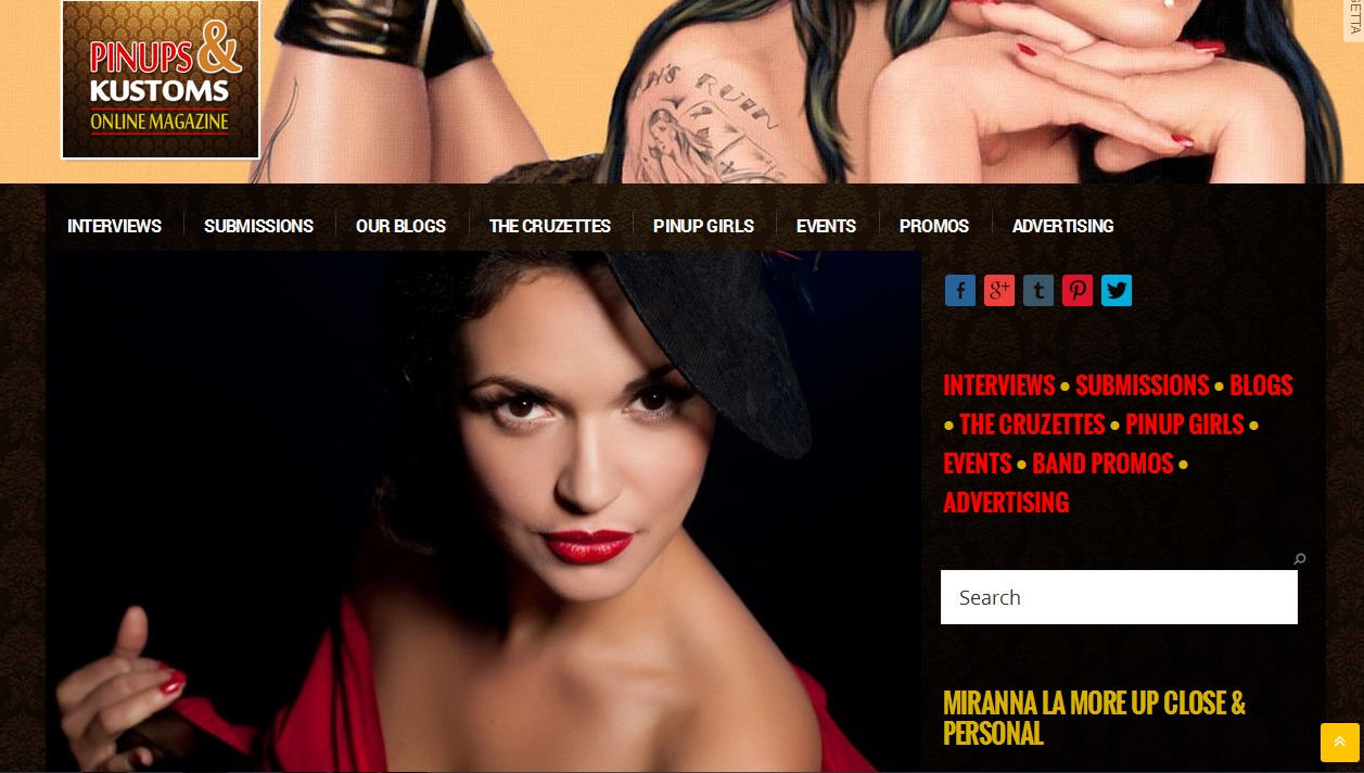 Pinups and Kustoms Online Magazine