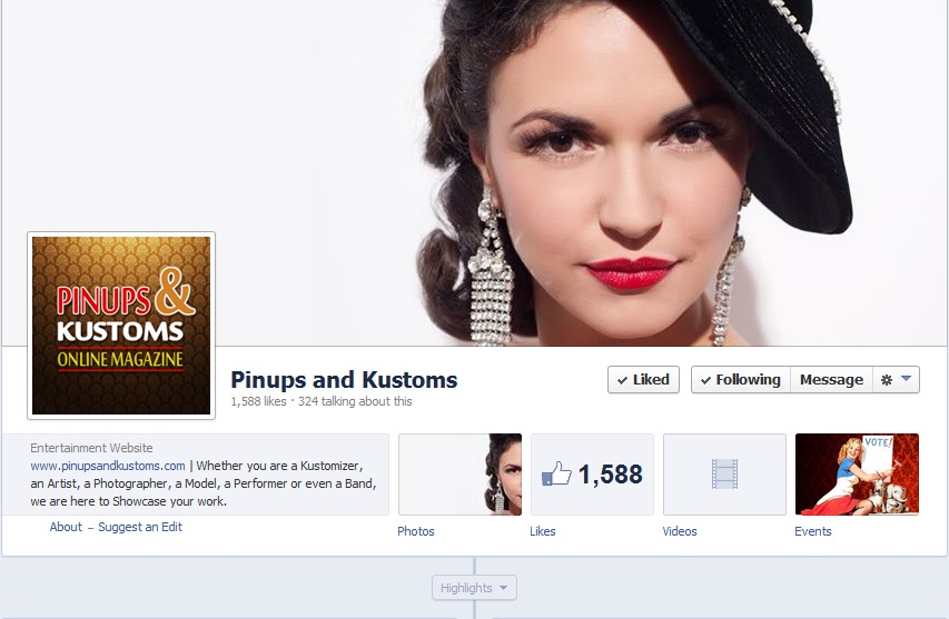 On Pinups & Kustoms Facebook