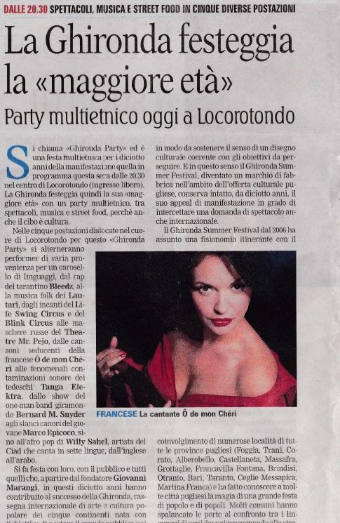 La Gazzetta del Mezzogiorno - 08/14