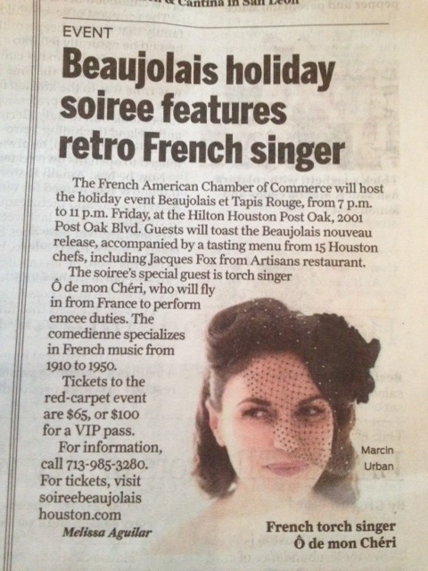 Sunday Houston Chronicle 16/11/14 US