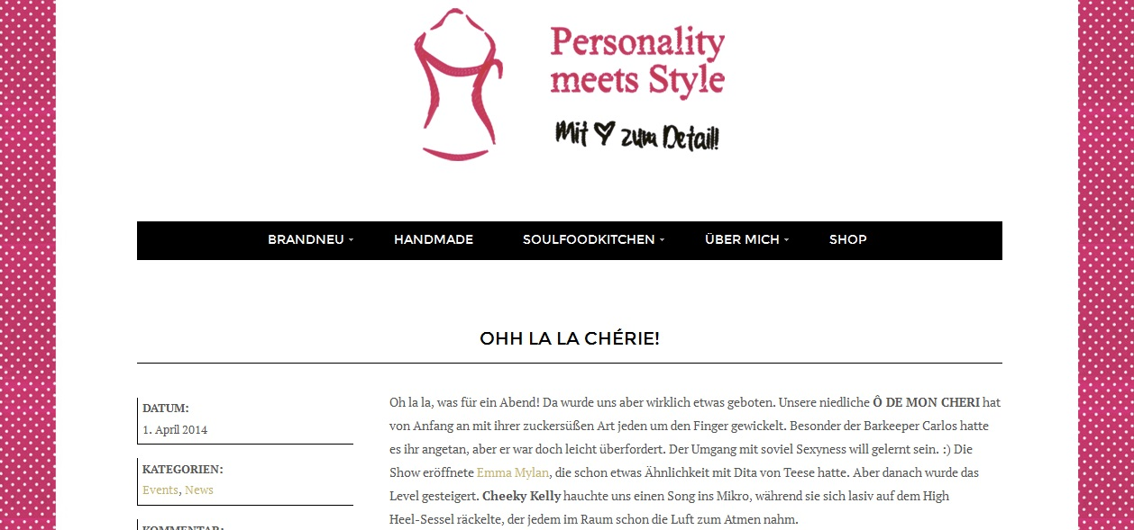 Personality meets Style Blog - 04/14