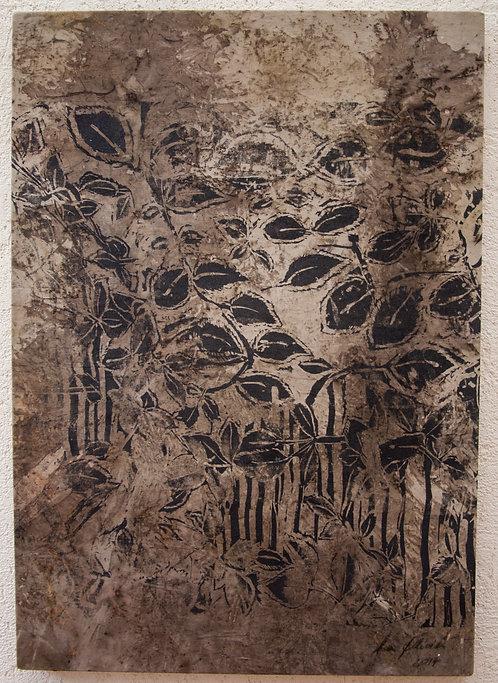 Folhas Surgindo - 70x100cm