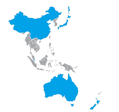 Asia Pacific map of the Horse Gym network. Quality products made in Germany for your equine needs. Whether it is horse racing, show-jumpers, dressage or equestrian. Train, Recover, Succeed.
