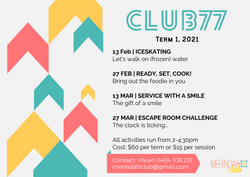 Club 77 - Term 1 2021