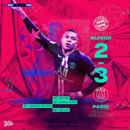 Bayern 2 - 3 PSG 1/4 LDC