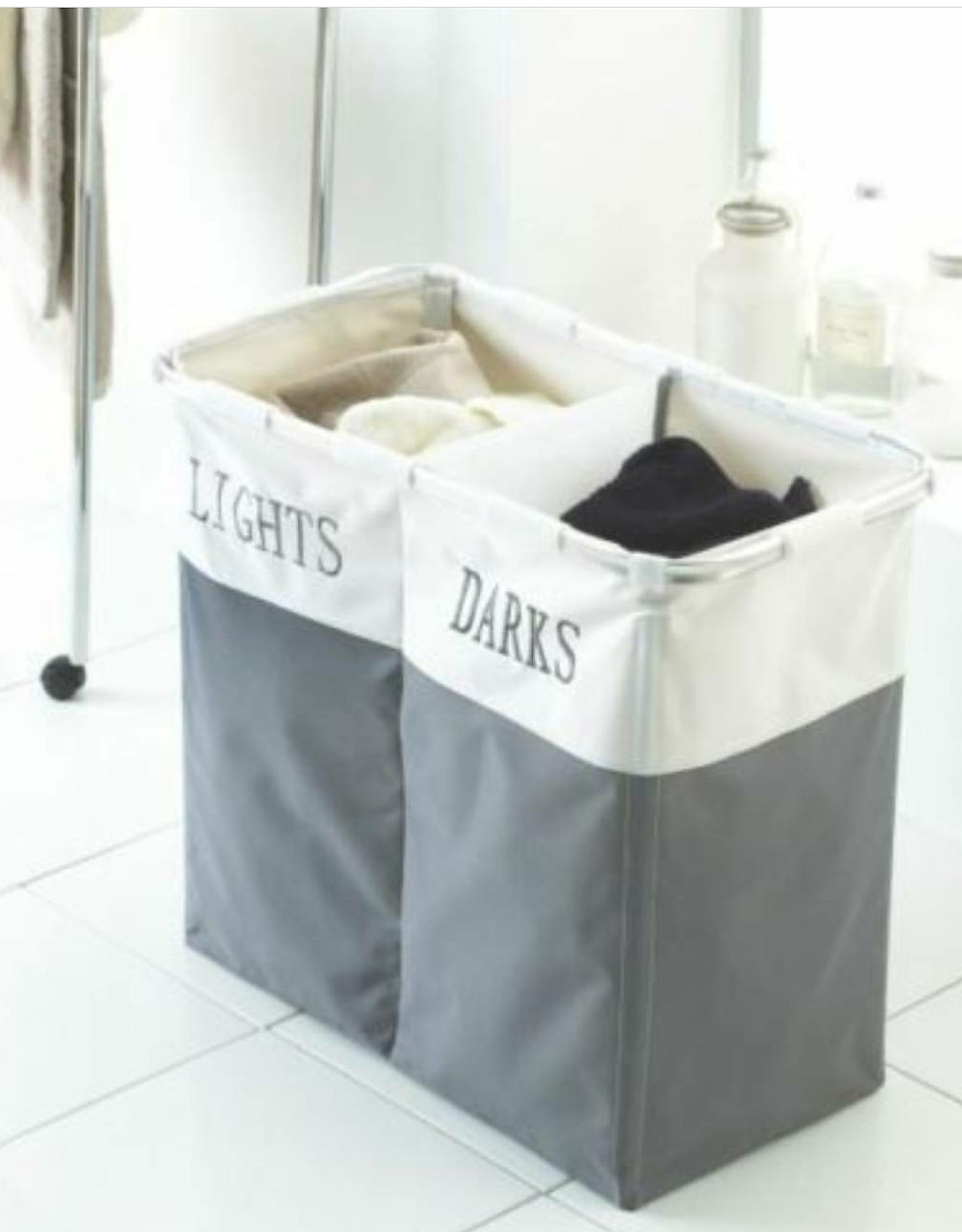 Divide Fabric Laundry Hamper