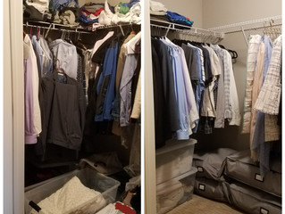 Before and After - Bedroom Closet