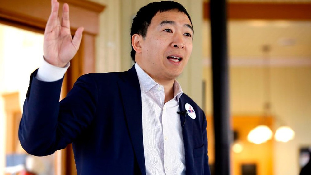 Andrew Yang wants to give you $1,000 per month
