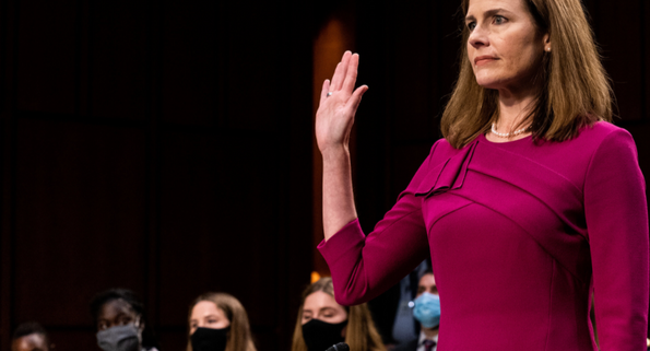BREAKING: Amy Coney Barrett Is Sworn in as a Supreme Court Justice 8 Days Before the 2020 Election
