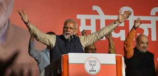 PM Modi during his victory speech
