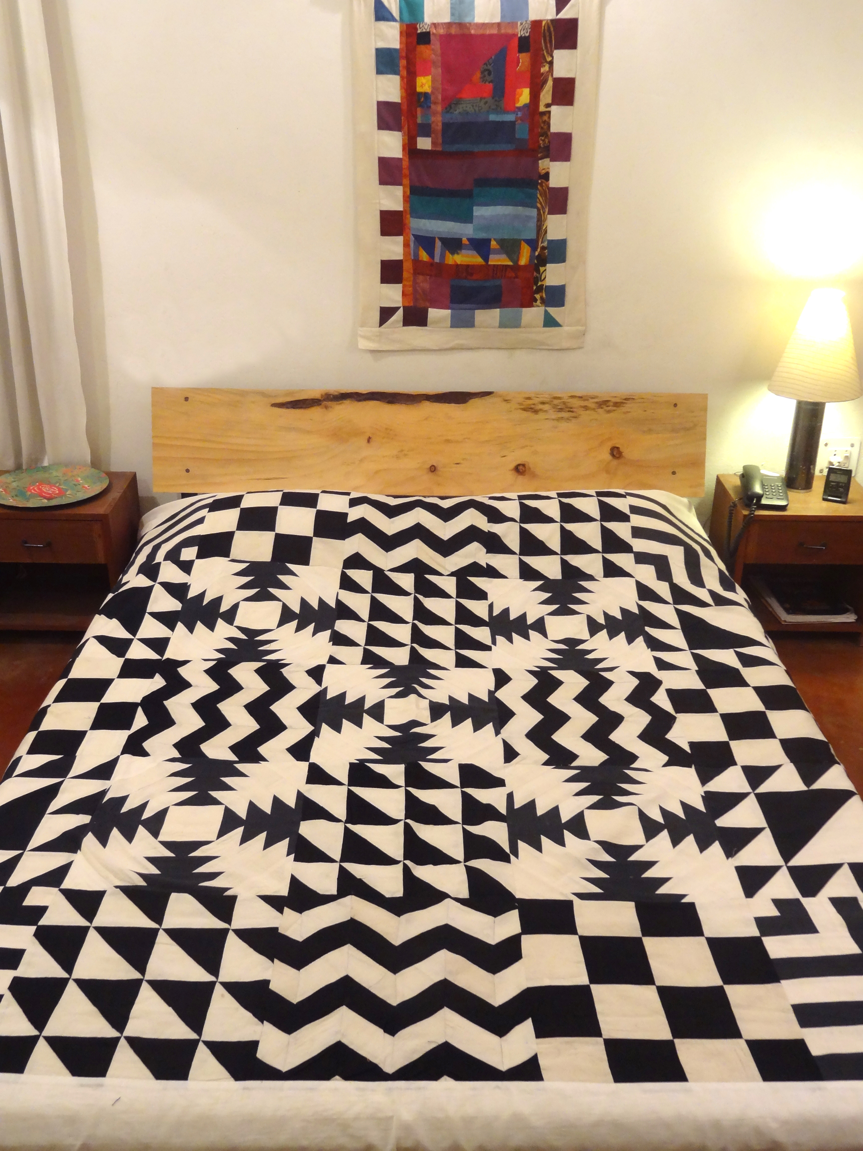 Bed Cover Patchwork (BCP) Black and White