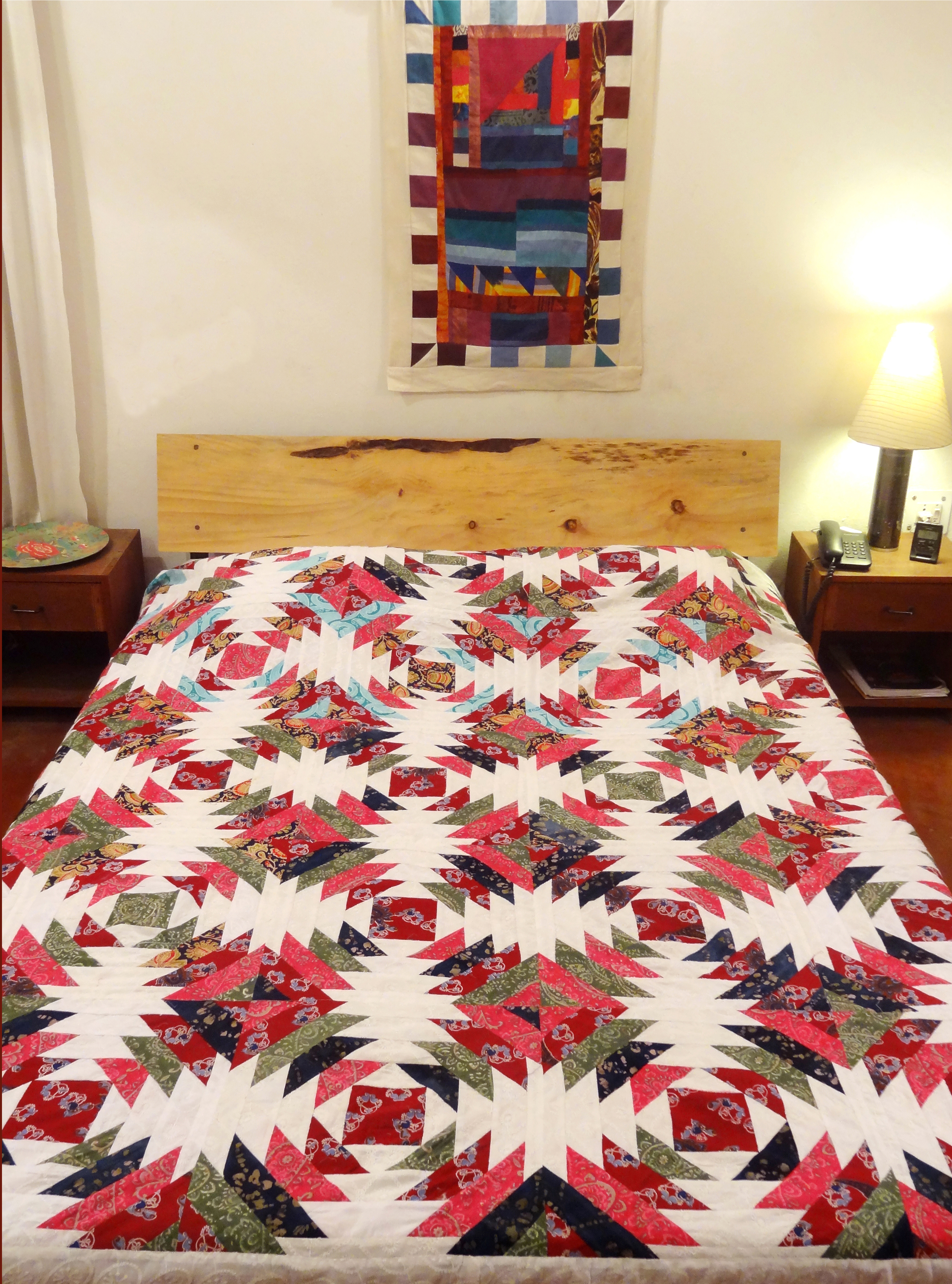 Bed Cover  Pineapple Patchwork (BCPP) Hakoba and Floral