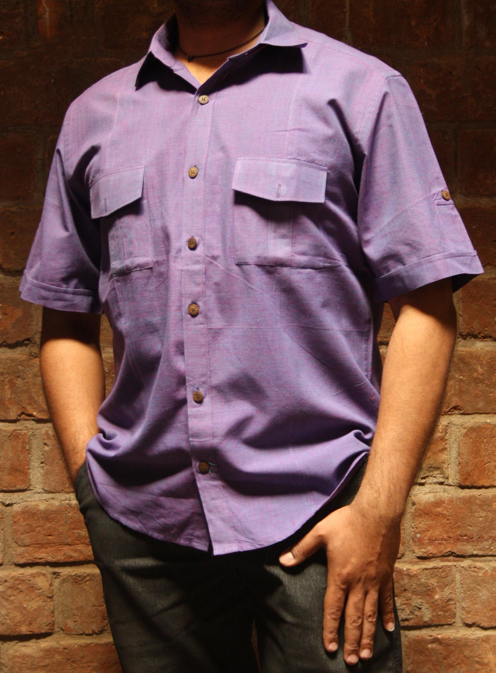 Shirt Half Sleeve Double Pocket (SHSDP) Handloom