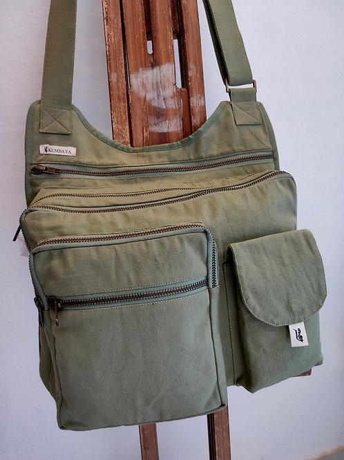 Multi Pocket Bag - Olive Green