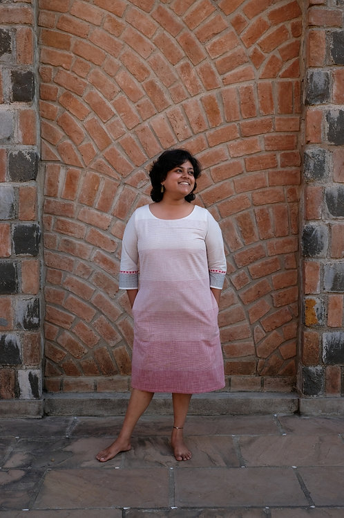 White and Pink Reversible Dress