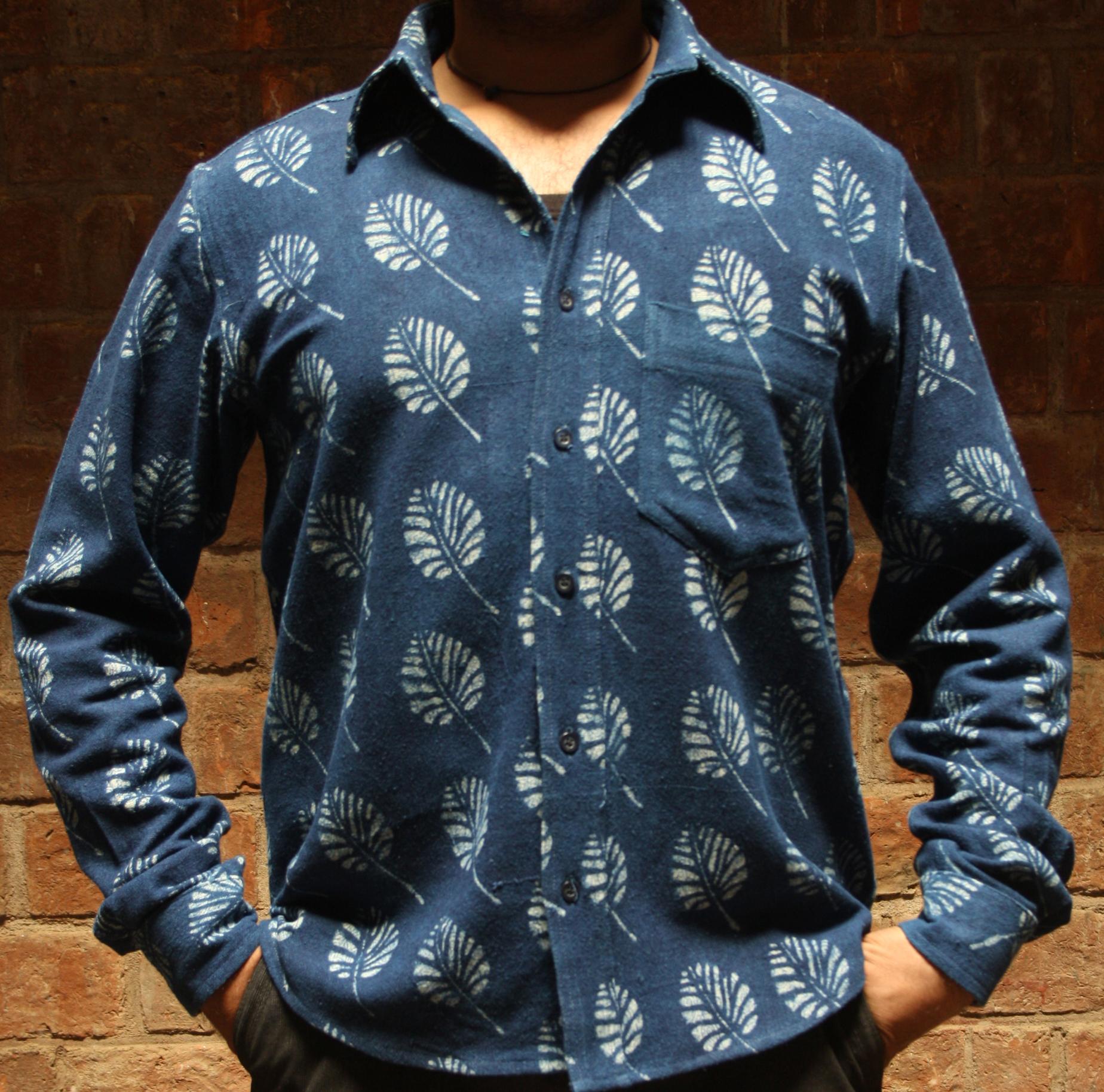 Shirt (S) Hemp Bagru Print