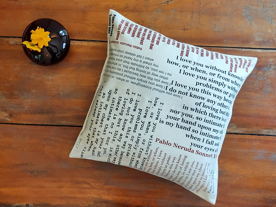 Poetry Cushion
