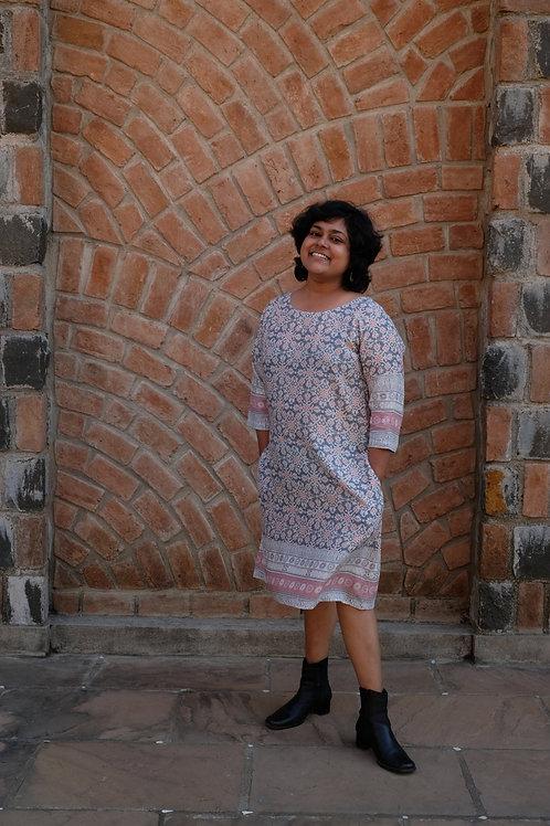 Floral Geometry Dress
