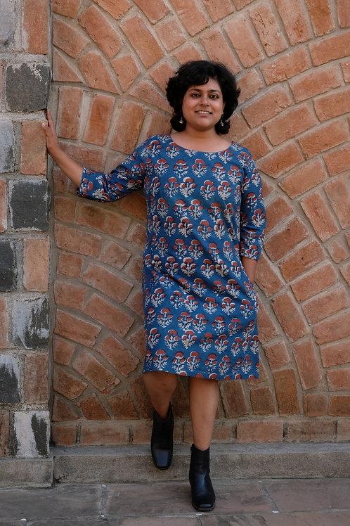 Indigo Madder Bouquet Dress
