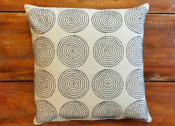 Running Stitch Cushion Cover