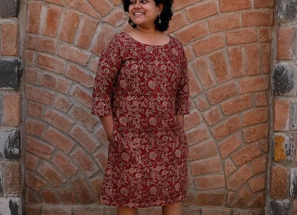 Pomegranate Malkha Dress