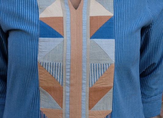 Indigo Desi Patchwork Tunic