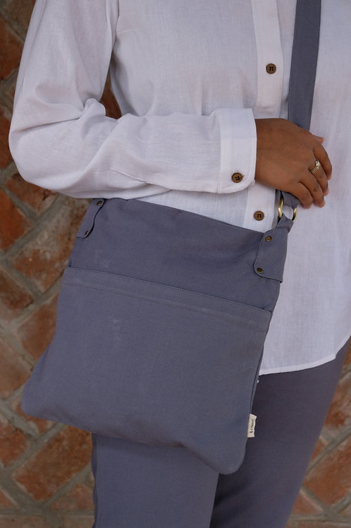 Square Bag 5 - Steel Grey