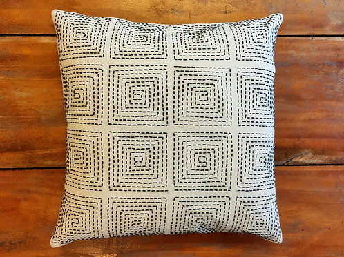 Running Stitch Cushion Cover