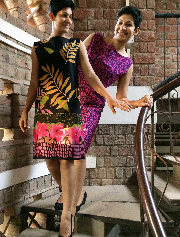 Dress Sleeveless BoatNeck Reversible