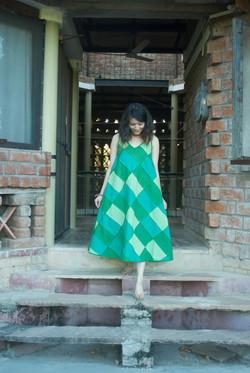 Dress Sleeveless Flared PW Reversibl