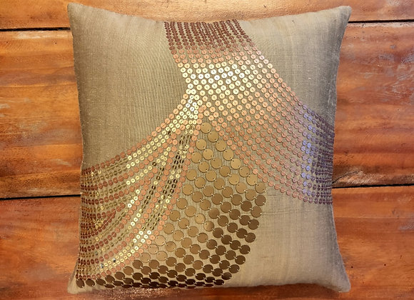Ari Embroidery Sequin Cushion Cover