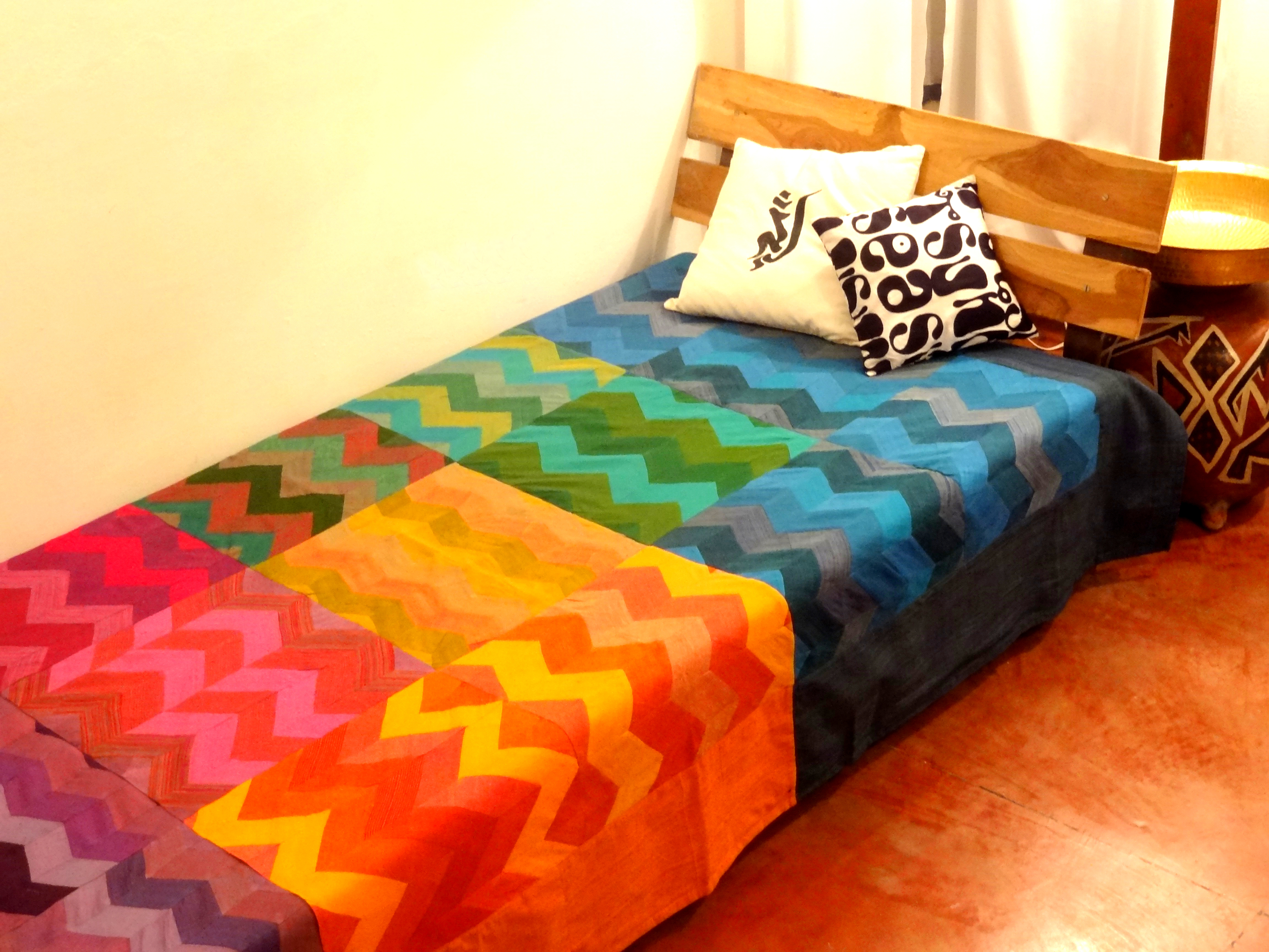 Bed Cover Zig Zag Patchwork (BCZP) Single