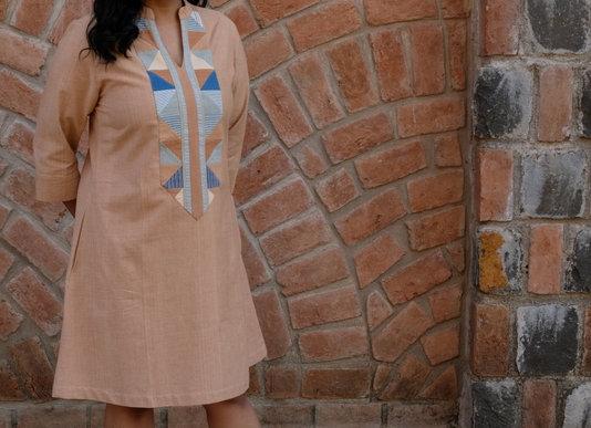 Fawn Desi Patchwork Tunic