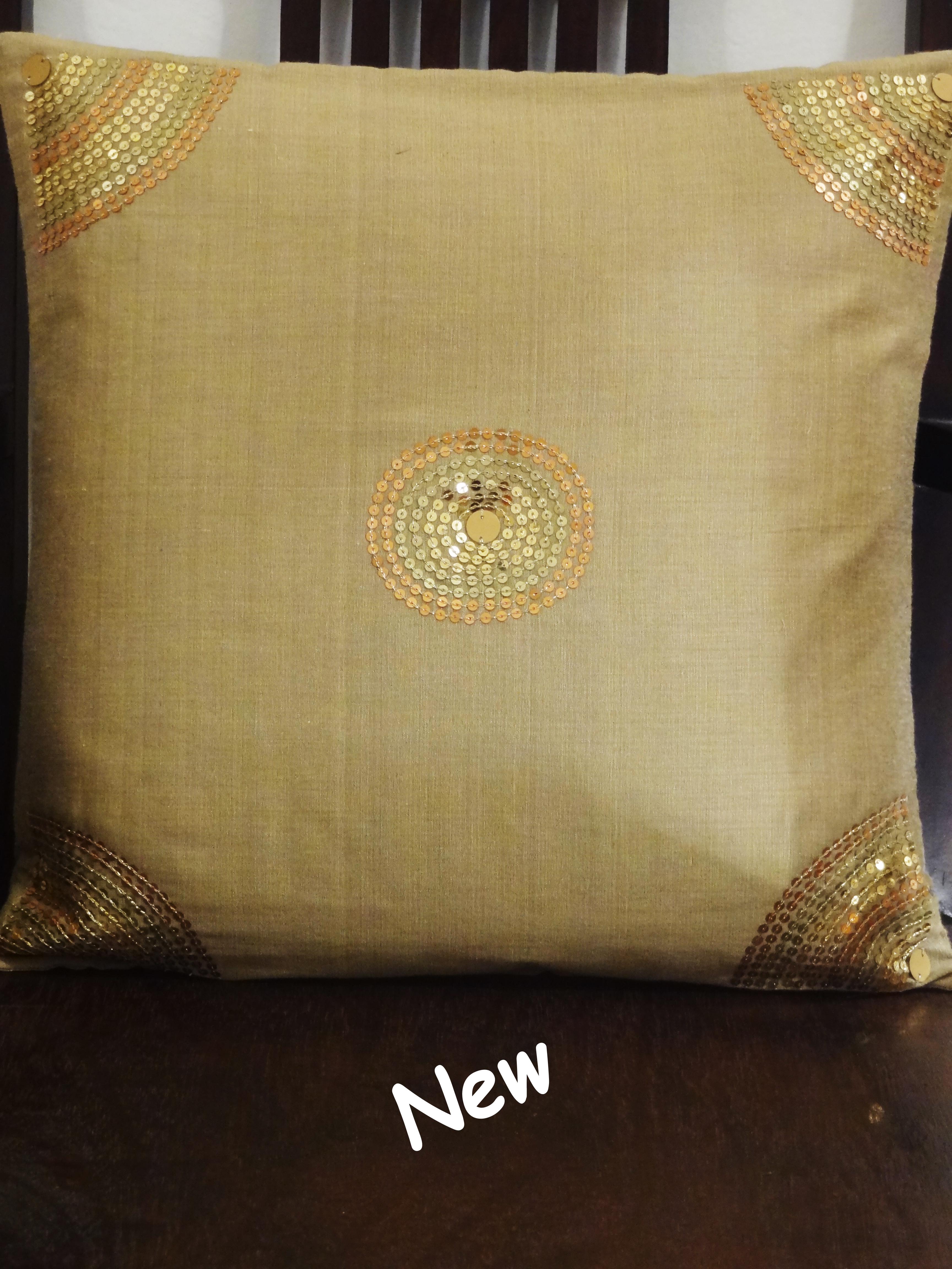 Cushion Cover Aari Embroidery