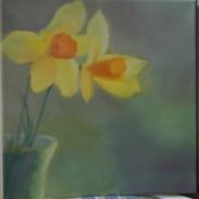 "Spring 12 x 12"" Oil on Canvas  Artist: Treasa Hynes"