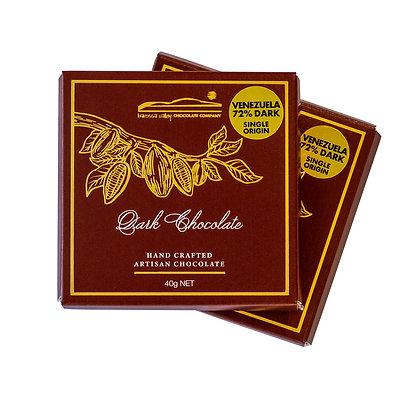 Single Origin Dark Chocolate Venezuela  72% - 40g
