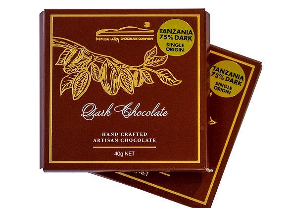Single Origin Dark Chocolate Tanzania 75% - 40g