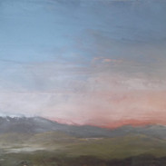 "Sundown in the West 12 x 16"" Oil on Board  Artist: Treasa Hynes"