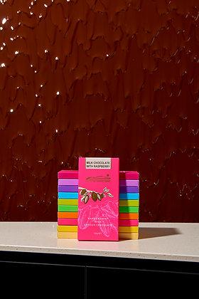 Milk Chocolate Raspberry Block 100g