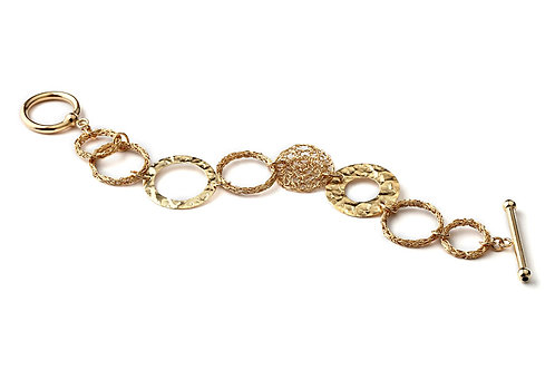 Mesh circles and elements bracelet