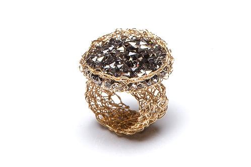 Mesh Swarovski crystal ring